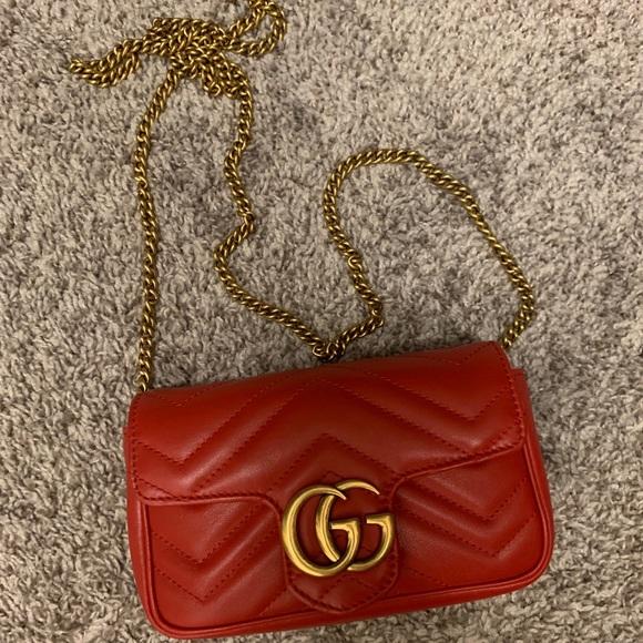 bad4dcedbb3c Gucci Bags | Super Mini Gg Marmont Red Bag | Poshmark